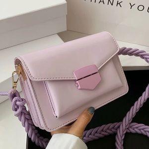 Gorgeous lavender satchel Vegan Leather